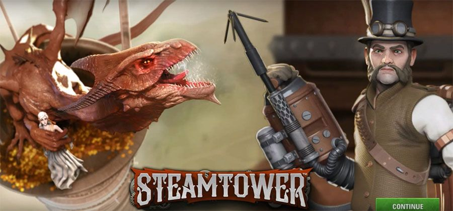 слот NetEnt - Steam Tower, скриншот 1