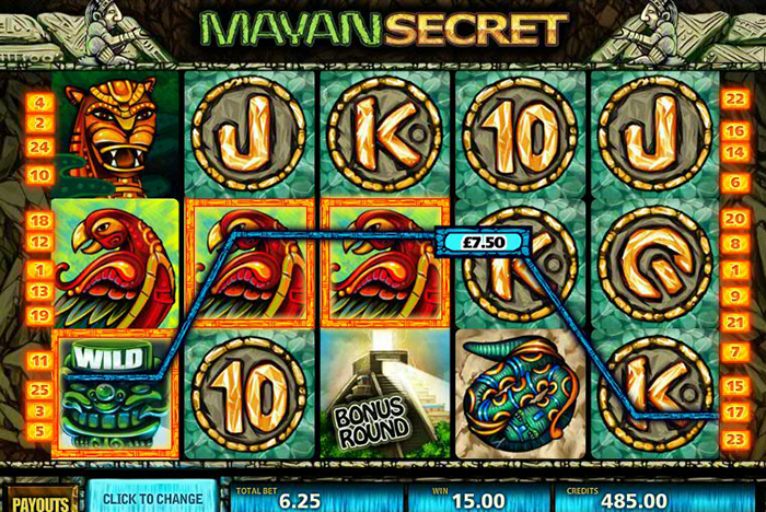 слот MultiSlot - Mayan Secret, скриншот
