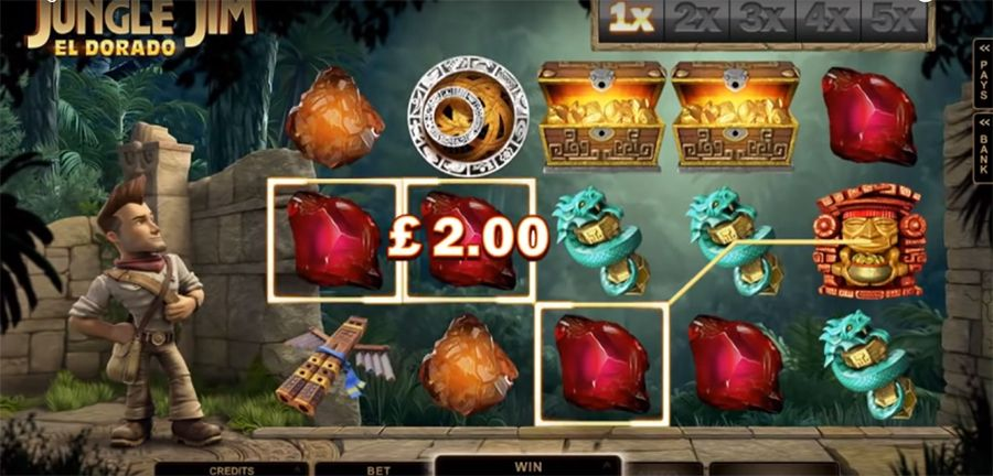 онлайн-слот Microgaming - Jungle Jim El Dorado , скриншот 2
