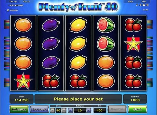 Онлайн-слот Plenty of Fruit 40 - Greentube